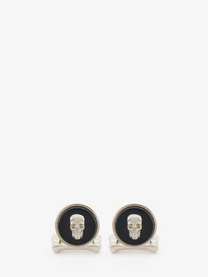 Boutons de manchette avec pierre Skull