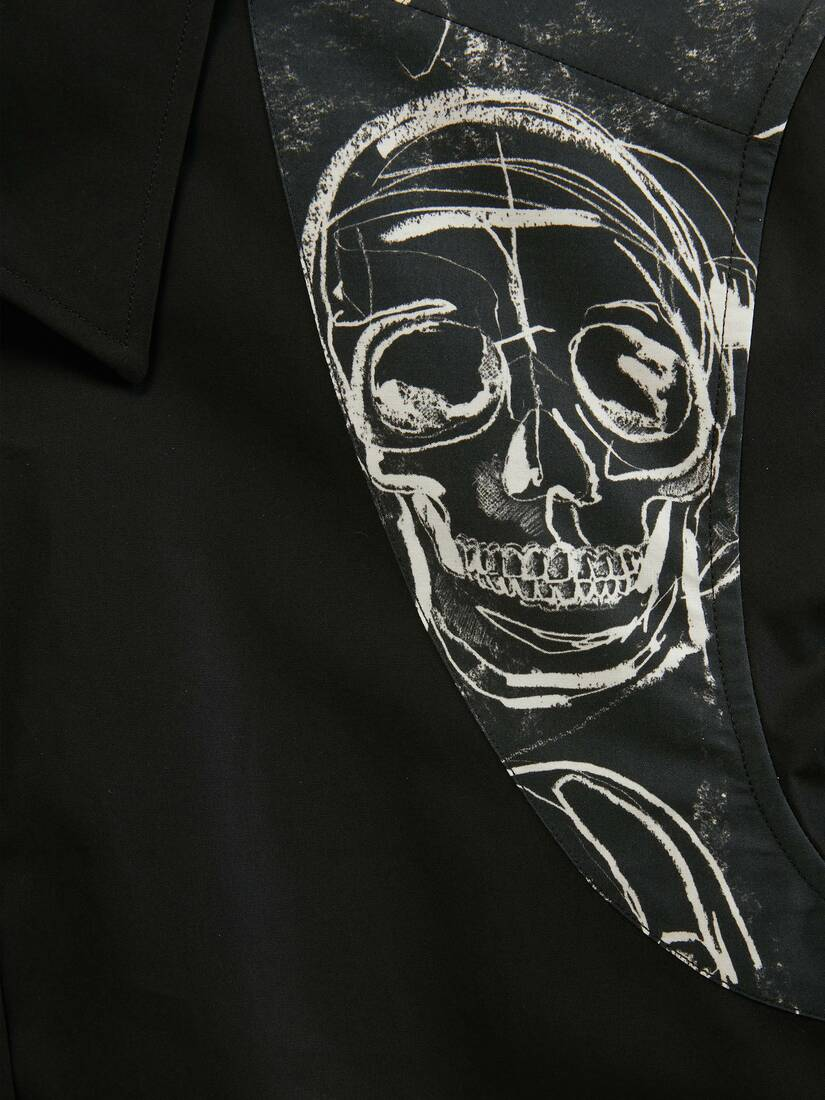 Painted Skull Harness Shirt