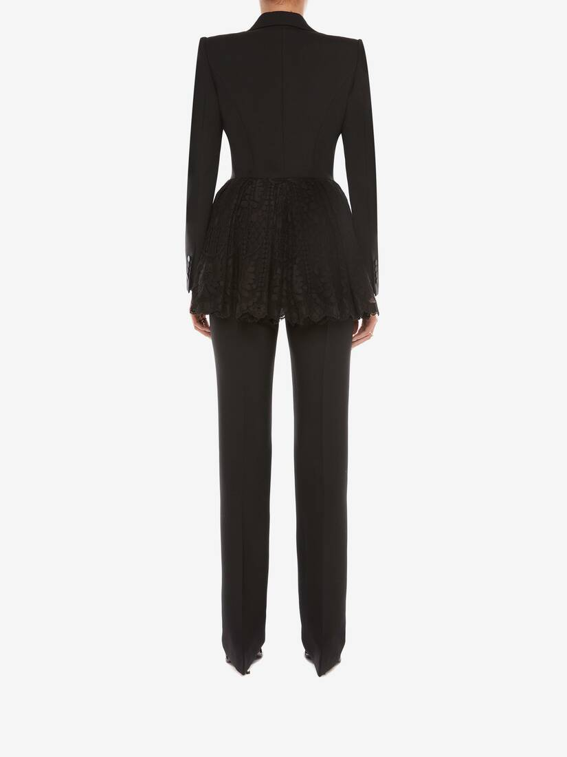 Display a large version of the product image 4 - Light Wool Silk Long Cigarette Trouser