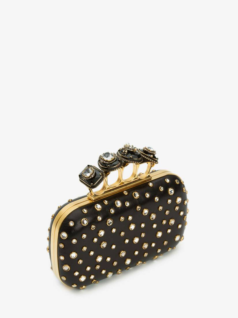 Display a large version of the product image 2 - Box Clutch Spider Jewelled Four-Ring