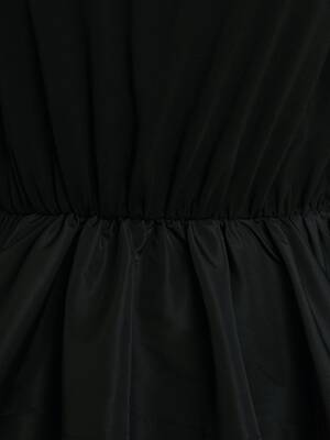 Cocoon Sleeve Peplum Top