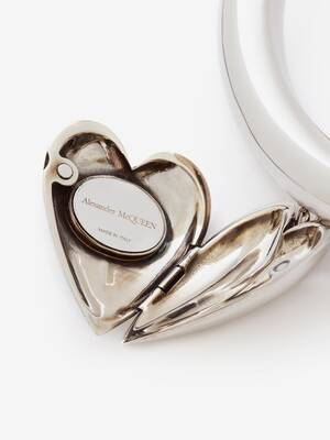 Heart Locket Charm Tubular Choker