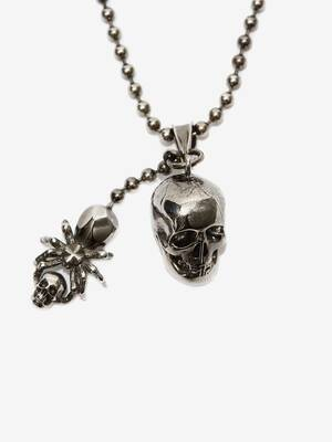 Spider and Skull Necklace