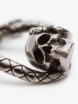 Skull and Snake Earring
