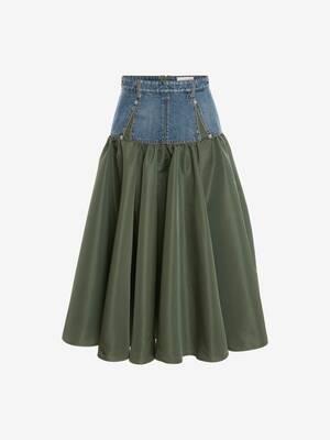 Hybrid Midi Skirt