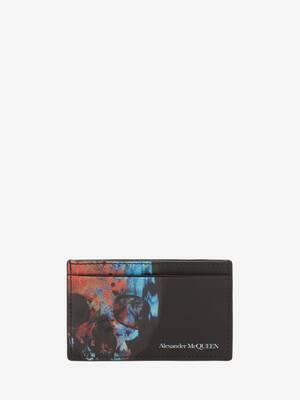 Porte-cartes motif Ikat Skull