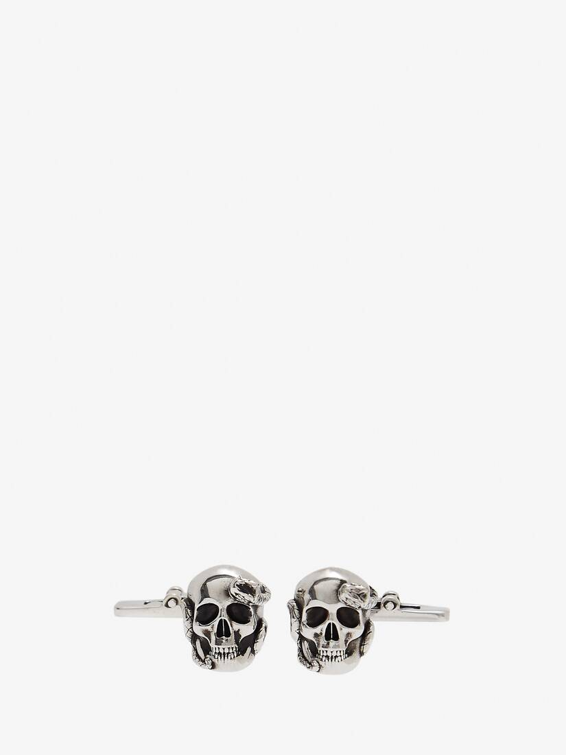 Display a large version of the product image 1 - Skull and Snake Cufflinks