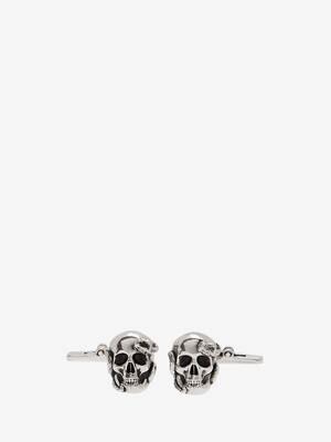 Skull and Snake Cufflinks