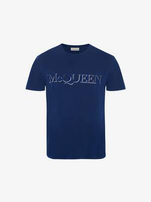 T-Shirt mit McQueen-Stickerei