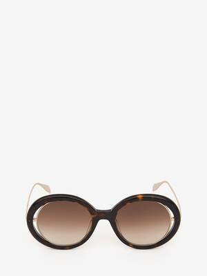 Open Wire Round Sunglasses