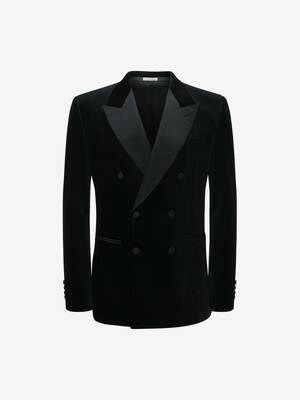 Double Breasted Velvet Tuxedo Jacket