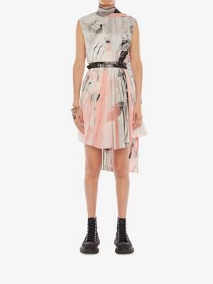 트롱프뢰유 스카프 넥 드레스