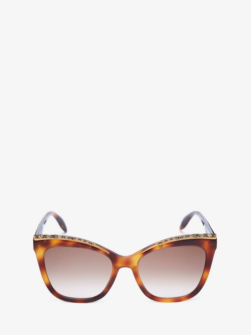 Display a large version of the product image 1 - Jewelled Cat-Eye Sunglasses