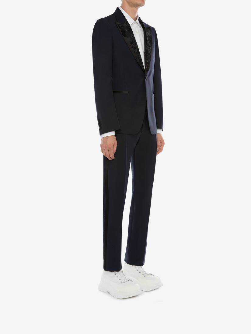 Display a large version of the product image 3 - Wool Mohair Tuxedo Trousers