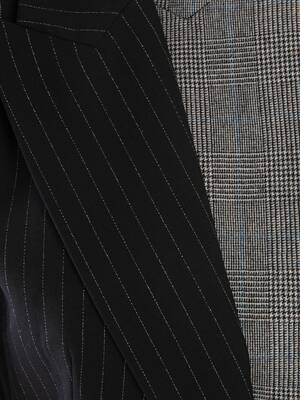 Patchwork Wool Jacket