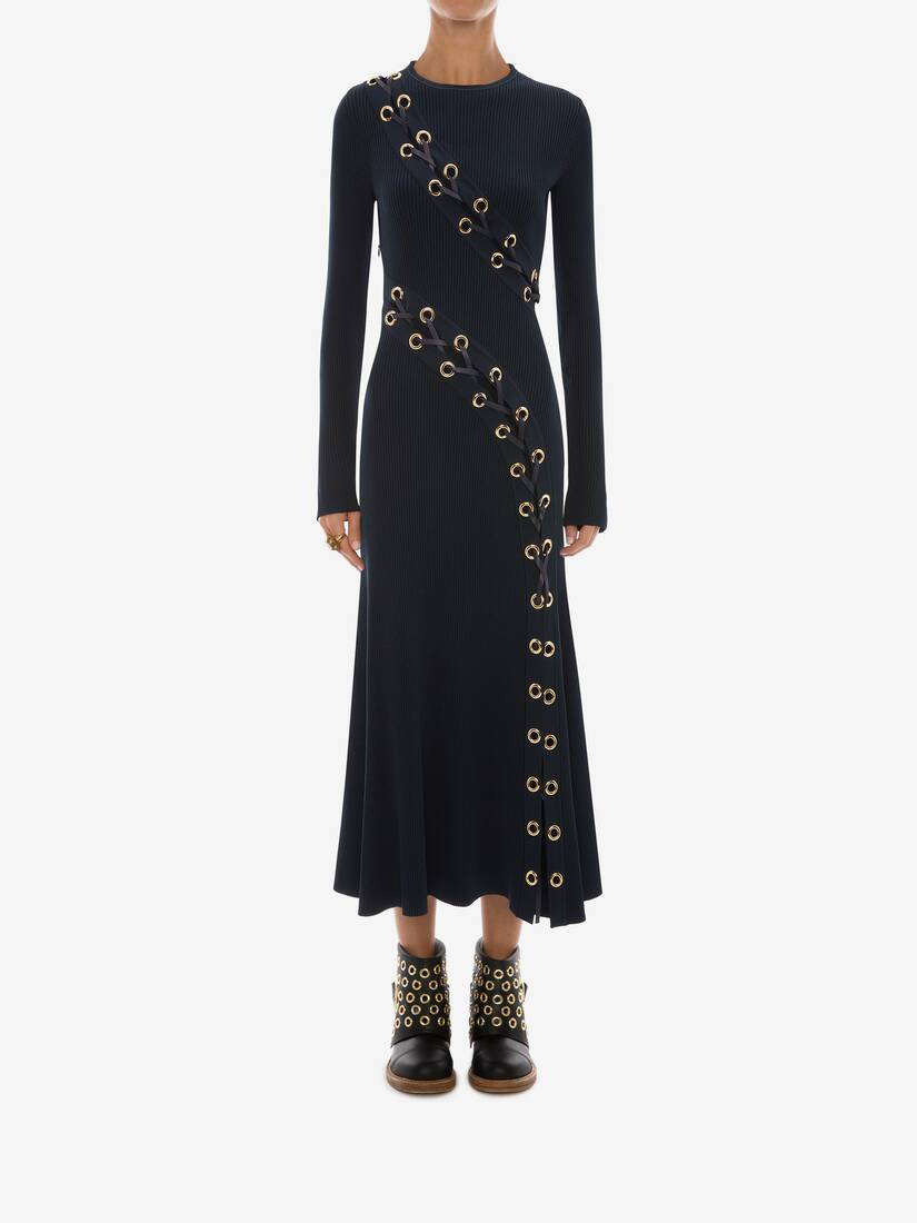 Display a large version of the product image 2 - Eyelet Knitted Midi Dress