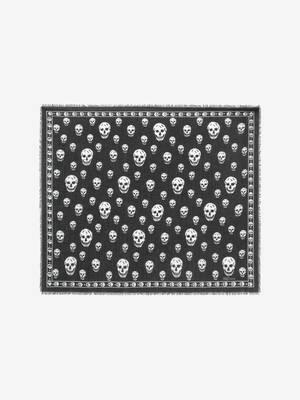 Foulard classique Skull en mélange soie