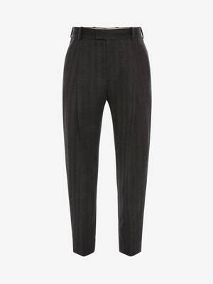 Wool Herringbone Trouser
