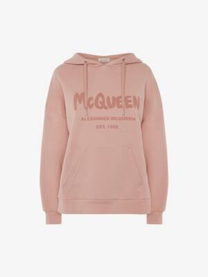 Sweat-shirt à capuche et graffiti McQueen