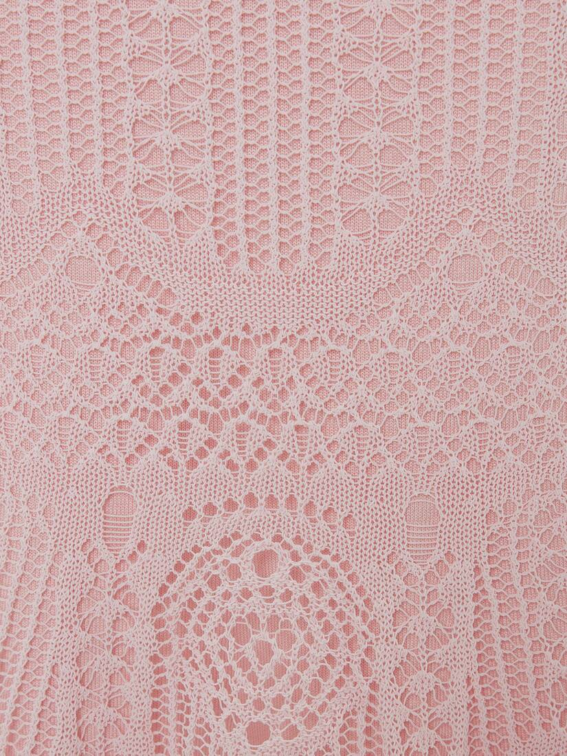 Patchwork Lace Knitted Skirt