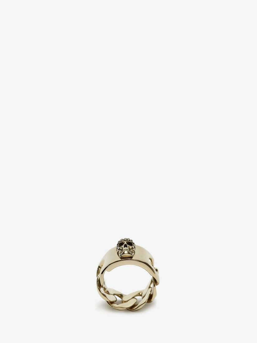 Display a large version of the product image 1 - Chain Skull Ring