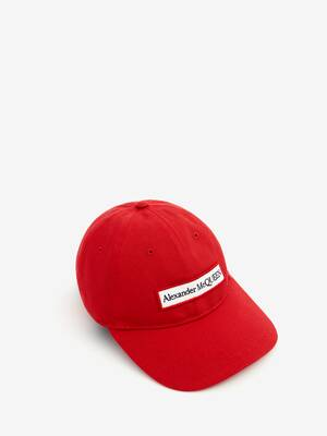 Embroidered Alexander McQueen Selvedge Baseball Cap