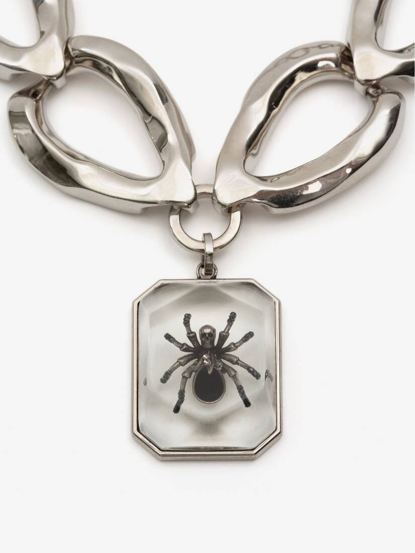 Spider Faceted Chain Necklace