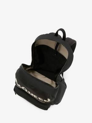 McQueen Graffiti Oversized Backpack