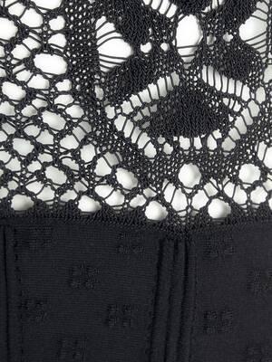 Patchwork Lace Peplum Cardigan