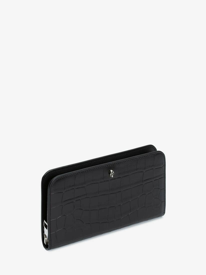 Display a large version of the product image 2 - Embossed Croc Zip Wallet
