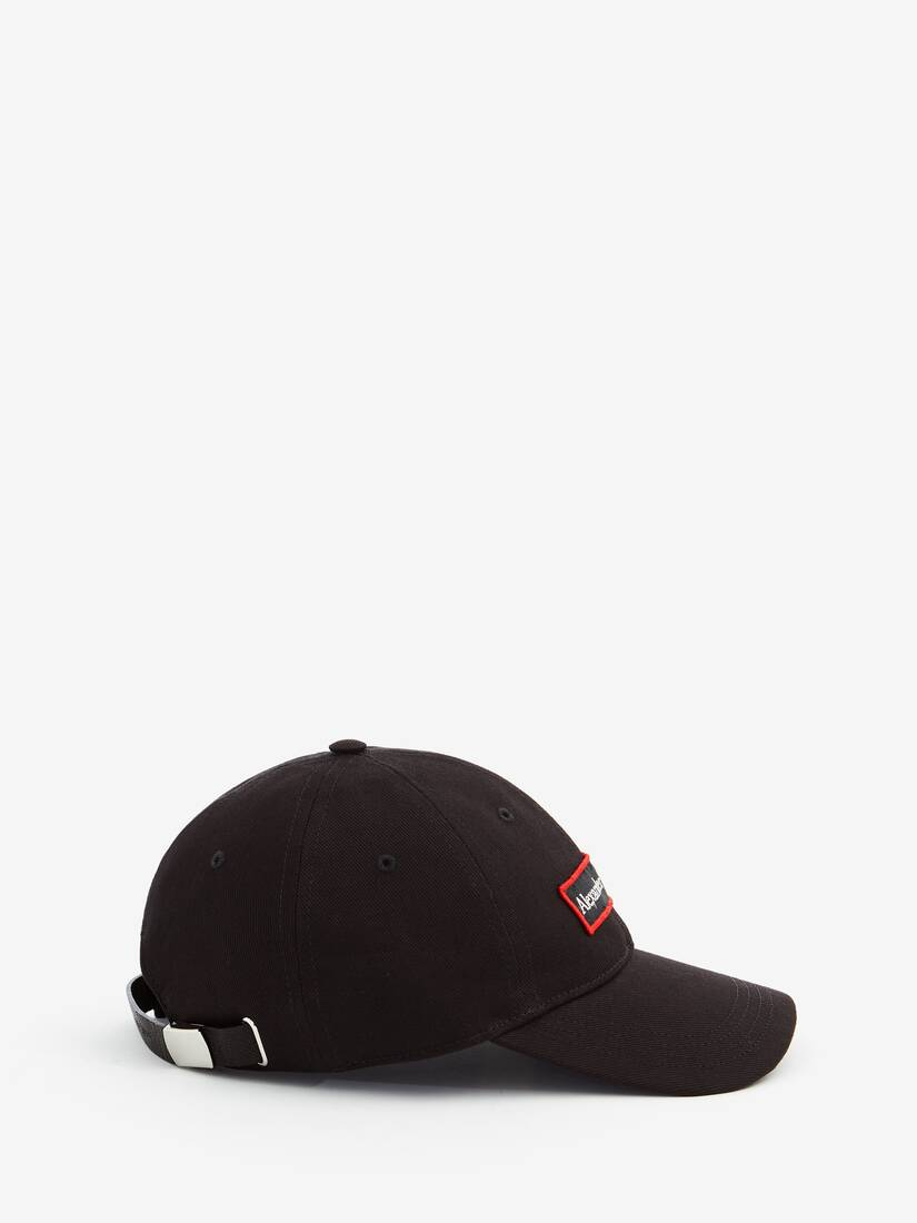 Display a large version of the product image 2 - Embroidered Alexander McQueen Selvedge Baseball Cap