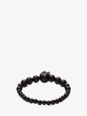 Perlenbesetztes Skull-Armband