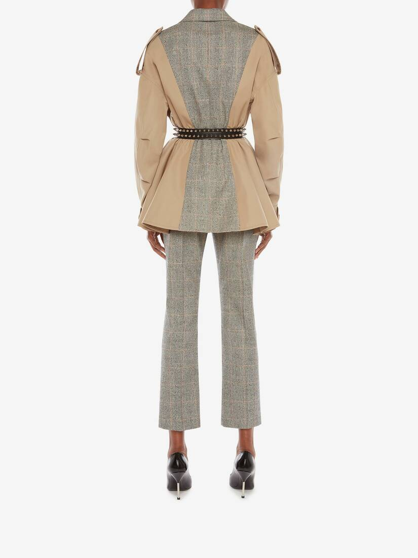Display a large version of the product image 4 - Spliced Trench Jacket