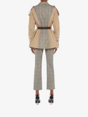 Spliced Trench Jacket