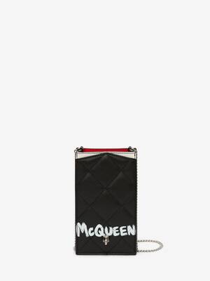 McQueen Graffiti Phone Case with Chain