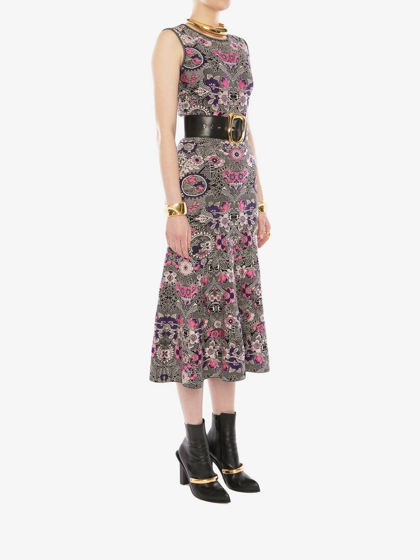 Display a large version of the product image 3 - Art Nouveau Jacquard Midi Dress