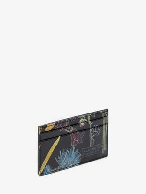 Deconstructed Floral Cardholder