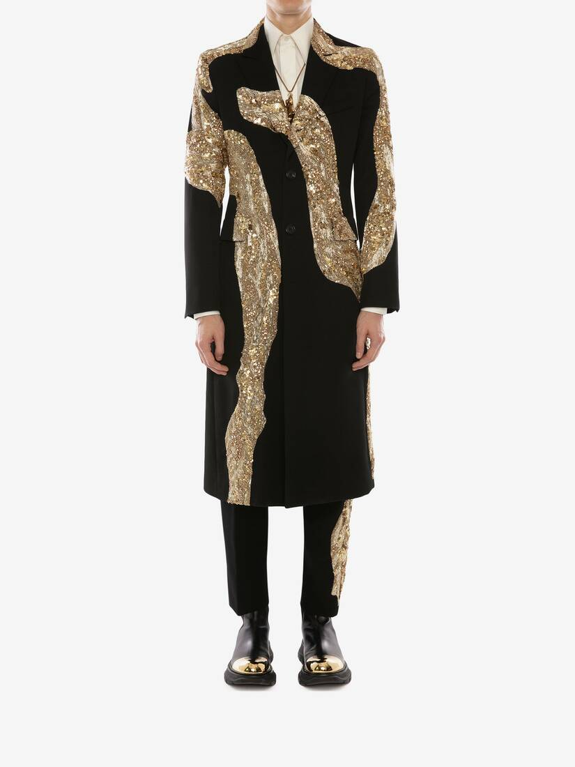 Display a large version of the product image 2 - Molten Metal Embroidered Coat