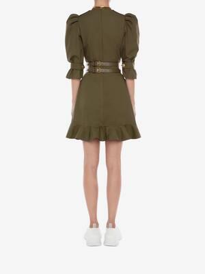 밀리터리 미니 드레스