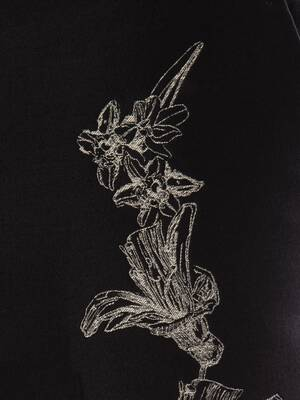 Floral Sash Jacquard Pants