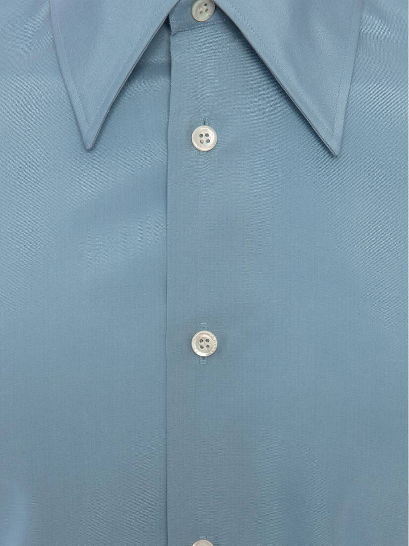 Display a large version of the product image 7 - Pointy Collar Silk Poplin Shirt