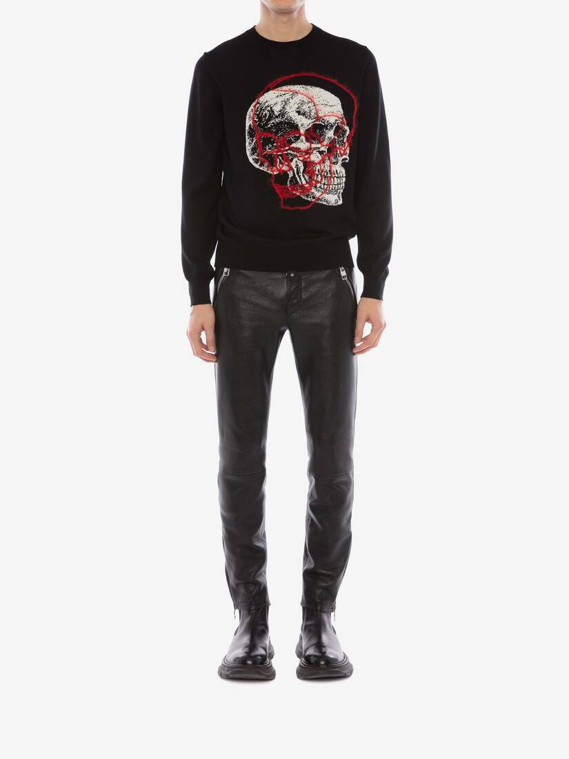 Display a large version of the product image 2 - Overlay Skull Crew Neck Jumper
