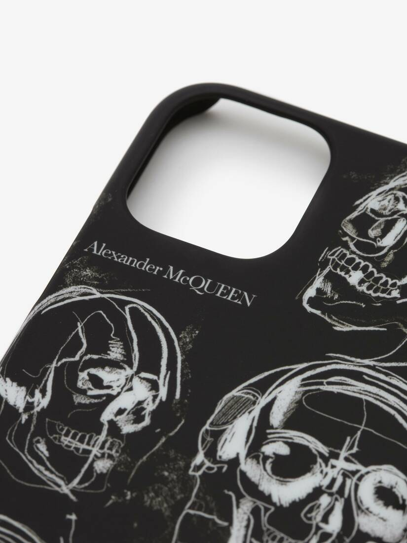 Display a large version of the product image 3 - Painted Skull iPhone 11 Pro Case