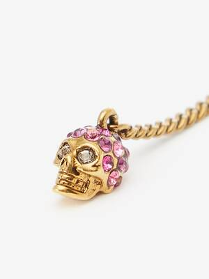 Double Wrap Chain Skull Necklace