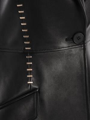 Stapled Leather Jacket
