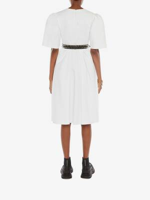 Cotton Piquet Midi Dress