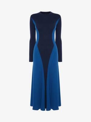 Bi-colour Knit Dress