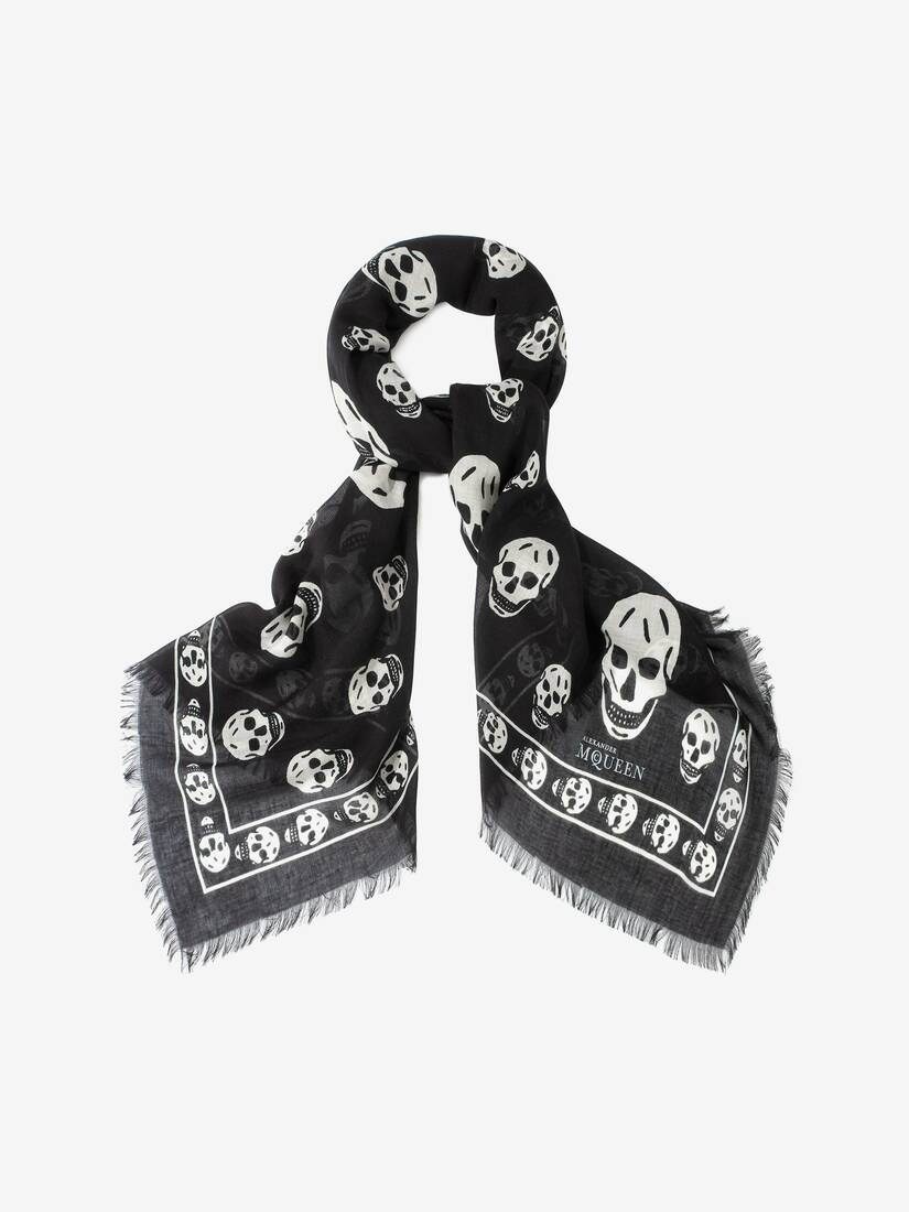Display a large version of the product image 2 - CLASSIC SKULL CASHMERE SCARF