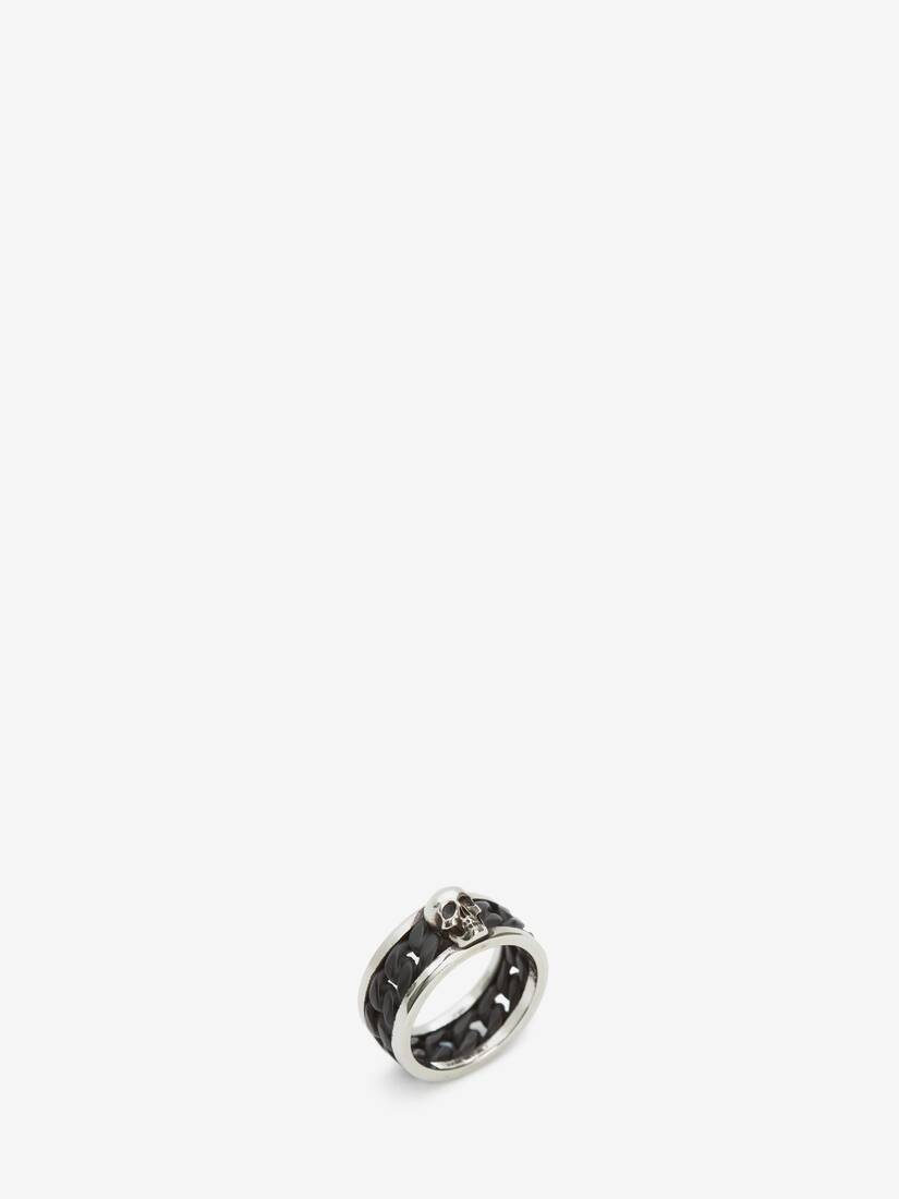 Display a large version of the product image 2 - Bi-Colour Skull Chain Ring