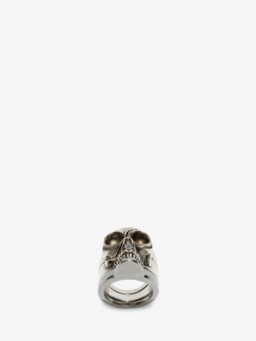Display a large version of the product image 1 - Divided skull ring